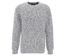 Pullover, meliert, Struktur-Muster, Baumwolle