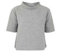 T-Shirt, Melange, Grau
