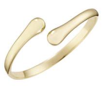 Armspange, oben offen, Edelstahl, gold