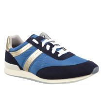 "Sneaker ""Adreny"", Textil, Kontrast-Streifen, Leder-Akzente, Blau"