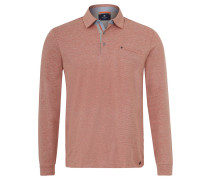 Poloshirt, Melange, Stretch-Anteil, Emblem, Orange