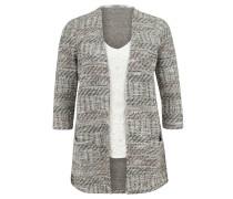 "Pullover ""Patricia"", 2-in1-Design, Strick, 3/4-Ärmel, Beige"