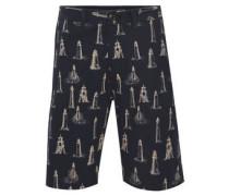 Bermuda-Shorts, Leuchtturm-Muster, 5-Pocket-Stil, Baumwolle