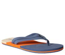 Zehentrenner, dreifarbig, Schaumstoff-Fußbett, für Herren, Orange