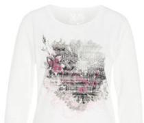 Langarmshirt, Print, Nieten-Besatz, Supima-Cotton