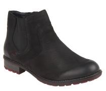 Chelsea Boots, Fleece-Sohle, Reißverschlluss, Schwarz
