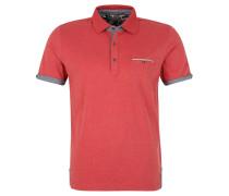 Poloshirt, Melange-Optik, Weicher Griff, Rot