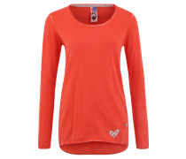 Pullover, Used-Optik, Strass, Baumwolle, Orange