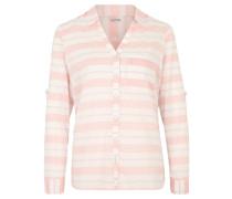 Bluse, Streifen, Baumwolle, Brusttasche, Orange