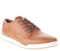 "Sneaker ""Nerrawia"", Schnürung, Kontrast-Sohle, Braun"