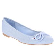 "Ballerinas ""A1385LLEN 15D2"", Jeans-Optik, Schleife, Blau"