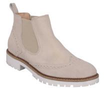 Chelsea Boots, Leder, Lyral-Lochung, Elasthan, Beige