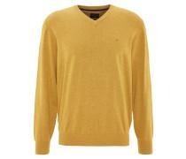Pullover, V-Ausschnitt, Gelb