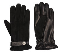 Handschuhe, echtes Leder, Velours außen, Lasche