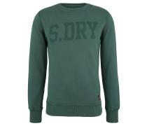 Sweatshirt, Baumwoll-Anteil, Logo-Print, Grün