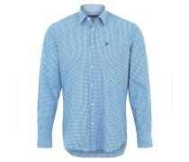 Freizeithemd, Regular Fit, Kent-Kragen, Blau