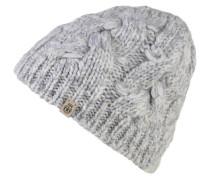Mütze, Strick, Woll-Anteil, Emblem, Zopfmuster