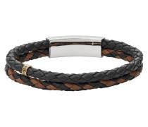 Armband, JF02758998, Schwarz|Braun|Silber