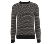 Pullover, Strick-Muster, Rundhals, Baumwolle, Mehrfarbig