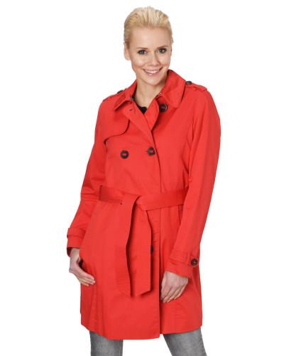 Mantel, zweireihige Knopfleiste, Bindegürtel, schimmernd