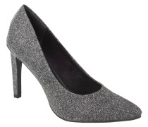 Pumps, Glitzer-Optik, spitz, Grau