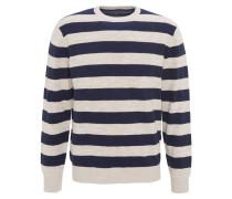 Pullover, Rundhalsausschnitt, gestreift, reine Baumwolle