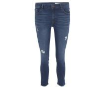 Jeans, Skinny Fit, knöchellang, Destroyed-Look