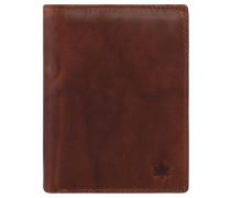 Brieftasche, Leder, Hochformat, Münzfach, Braun