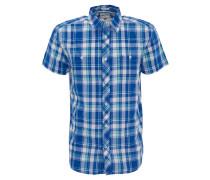 Freizeithemd, Regular Fit, Kurzarm, kariert, Kent-Kragen, Brusttaschen, Blau
