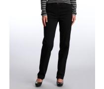 """Jeans """"Tina"""", Feminin Fit, gerades Bein, Schwarz"""
