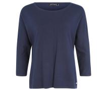 Pullover, Feinstrick, Viskosemix, Loose Fit, 3/4-Arm, Blau