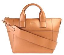 """Handtasche """"Helena"""", Leder, breiter Schultergurt, Braun"""