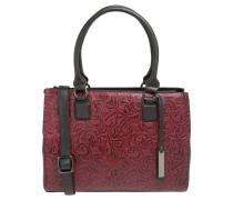 "Handtasche ""Florence"", Kalbsleder, Prägemuster, Rot"