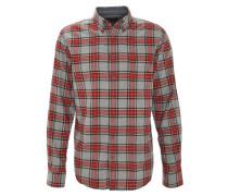 Freizeithemd, Flanell, Karo-Muster, Comfort Fit, Baumwolle, Grau