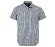 Freizeit-Hemd, kurzarm, Karo-Muster, Blau
