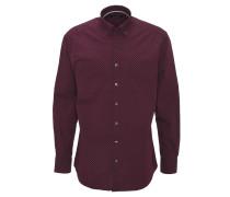 Freizeithemd, geometrisches Muster, Baumwolle, Rot