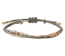Armband Leder grau mit Würfel rosevergoldet JA6534791