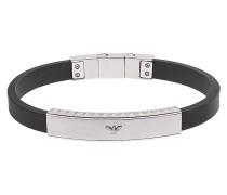 Armband Kautschuk mit Edelstahl EGS1882040