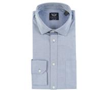 Businesshemd, Slim-Fit, Kentkragen, Blau
