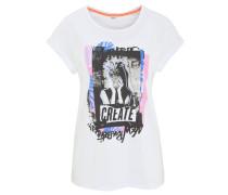 T-Shirt, Front-Print, Rundhalsausschnitt