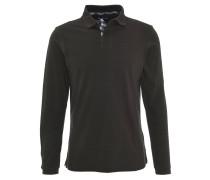 Polo-Shirt, Logo-Stickerei, uni, Baumwolle, Grün