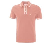 Poloshirt, zweifarbiges Design, Brusttasche, Orange