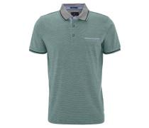Poloshirt, gestreift, Brusttasche, Baumwolle, Grün