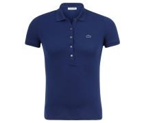 Poloshirt, Slim Fit, Piqué, für Damen, Blau