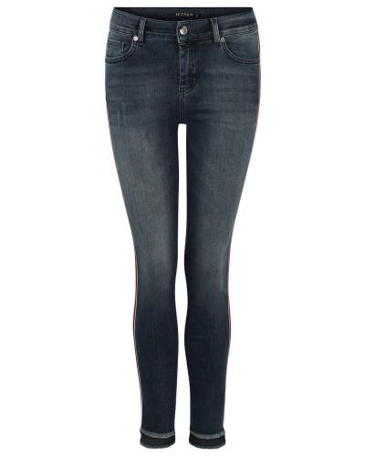 Jeans, Slim Fit, Waschung, Galonstreifen