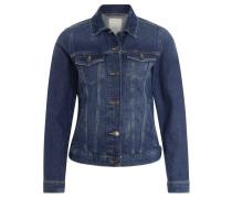 Jeansjacke, Used-Optik, gerader Schnitt, Blau