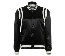 "Blouson ""Felix, The Cat"", Satin-Optik, Stickerei, Schwarz"
