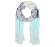 Schal, kräftiges Muster, Knitter-Effekt, Fransen