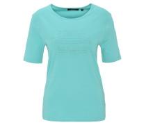 T-Shirt, uni, Strass-Besatz