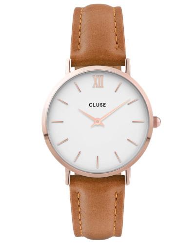 """Damenuhr """"Minuit"""" CL30021, braun / weiß"""
